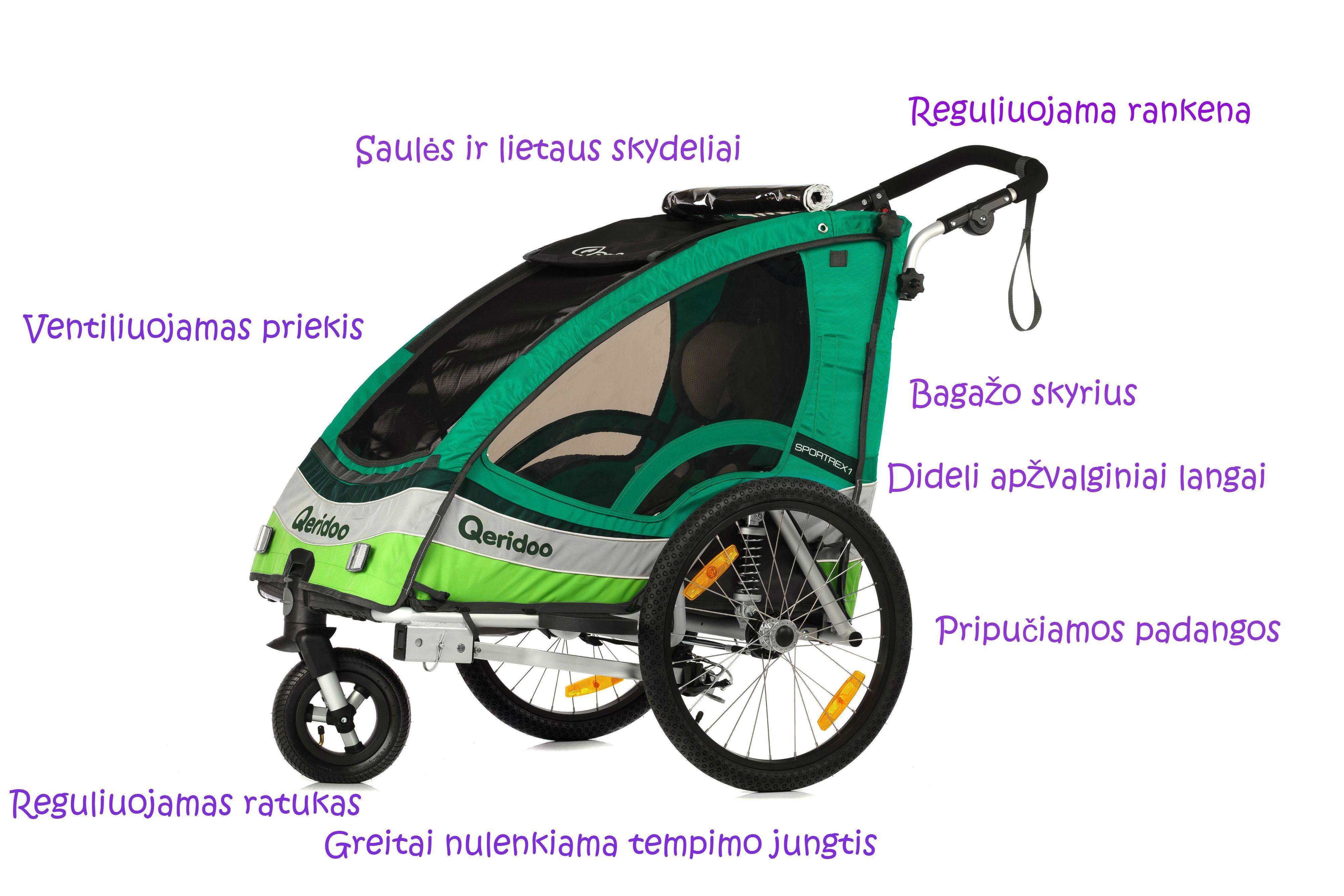 Dviračio vežimėlio funkcijos